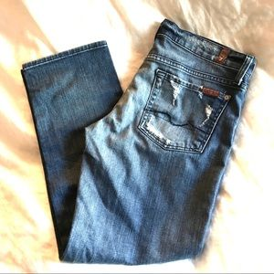 7 for all Mankind Straight Crop Jeans